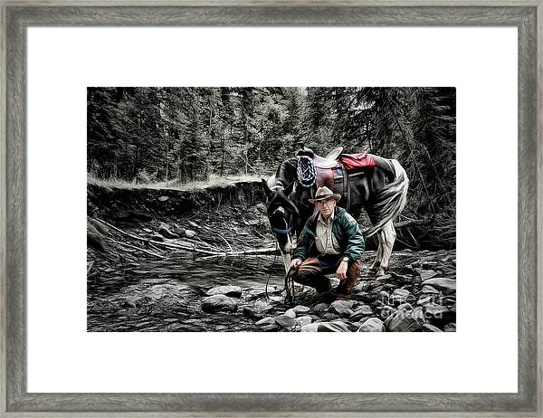 The Back Country Guardian Framed Print