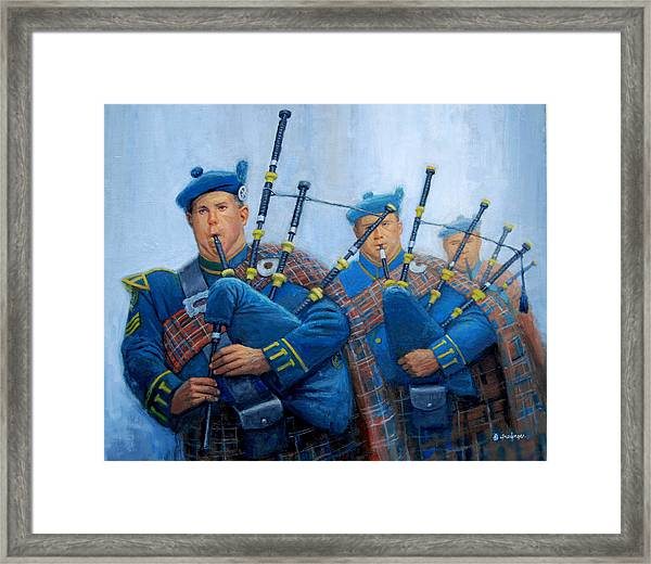The Bagpipers Framed Print