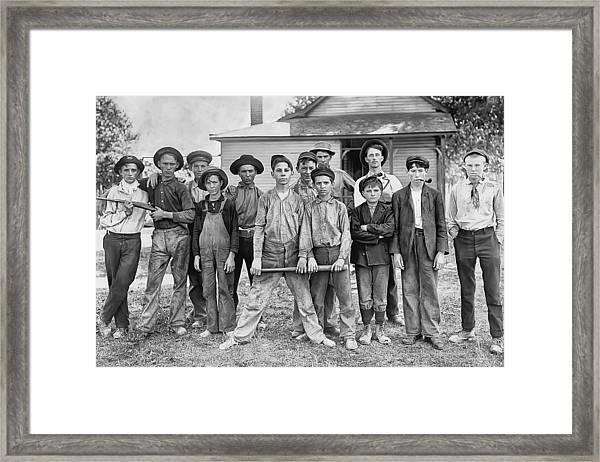 The Ball Team Framed Print