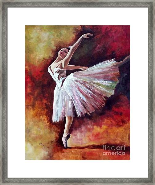 The Dancer Tilting - Adaptation Of Degas Artwork Framed Print
