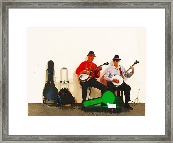 The Banjo Dudes Framed Print