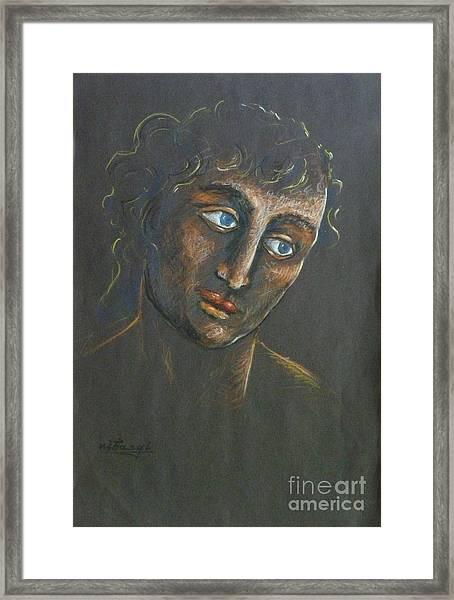 John Framed Print by Ushangi Kumelashvili