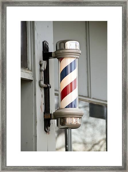 The Barber Shop 4 Framed Print