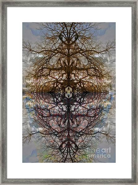 The Barking Yin Yang Framed Print