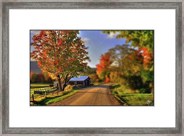 The Barn At The Bend Framed Print