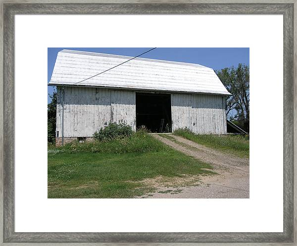 The Barn At The Farm Framed Print by Janis Beauchamp