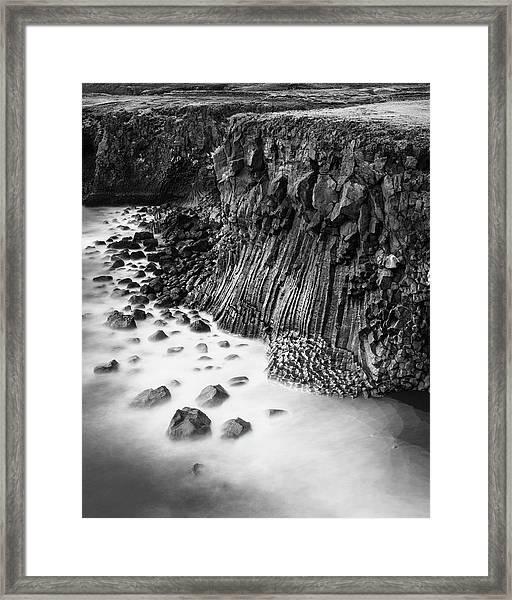 The Basalt Cliff Of Arnarstapi Framed Print