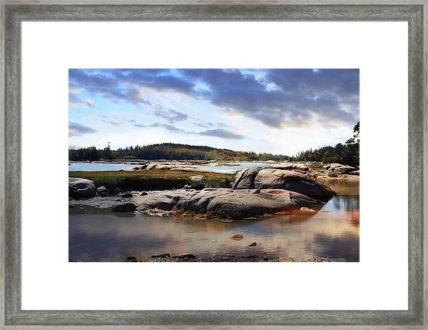 The Basin, Vinalhaven, Maine Framed Print