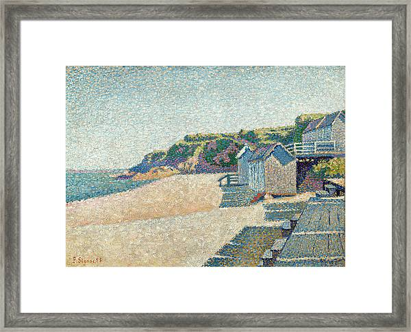The Bathing Cabins, Opus 185 Framed Print