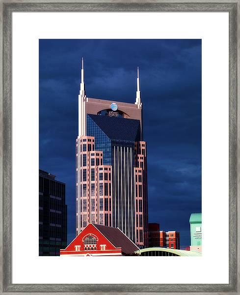 The Batman Building - Nashville Framed Print
