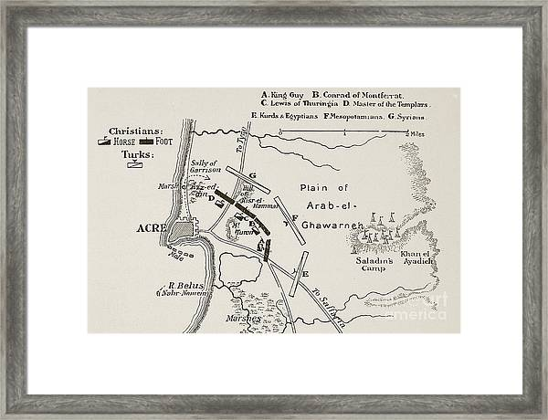 The Battle Of Acre, 4th October 1189 Framed Print