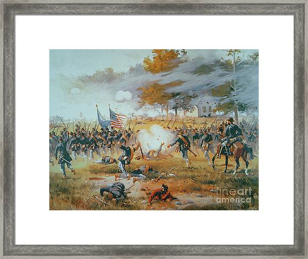 The Battle Of Antietam Framed Print