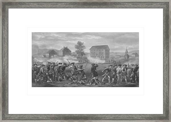 The Battle Of Lexington Framed Print