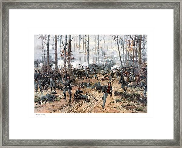The Battle Of Shiloh Framed Print