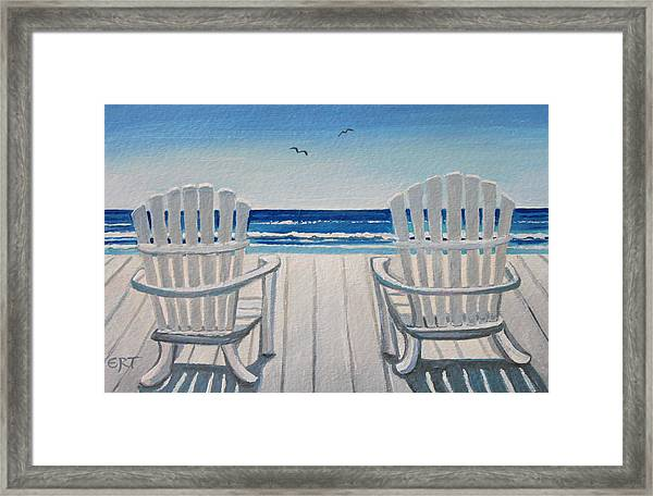 The Beach Chairs Framed Print