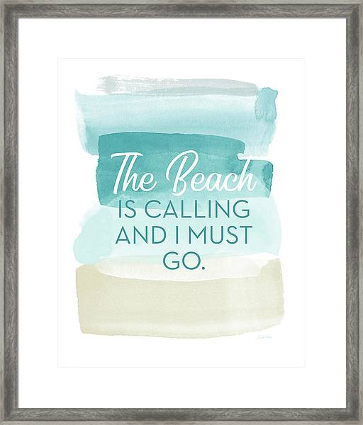 The Beach Is Calling- Art By Linda Woods Framed Print