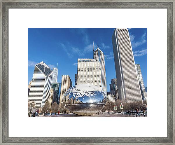 The Bean And The City Framed Print