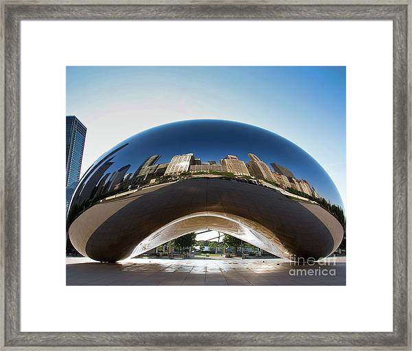 The Bean's Early Morning Reflections Framed Print