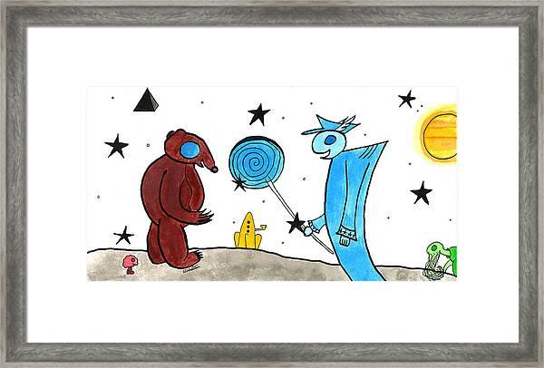 The Bear's Gift Framed Print