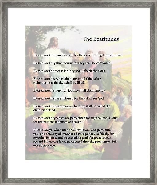 The Beatitudes Framed Print