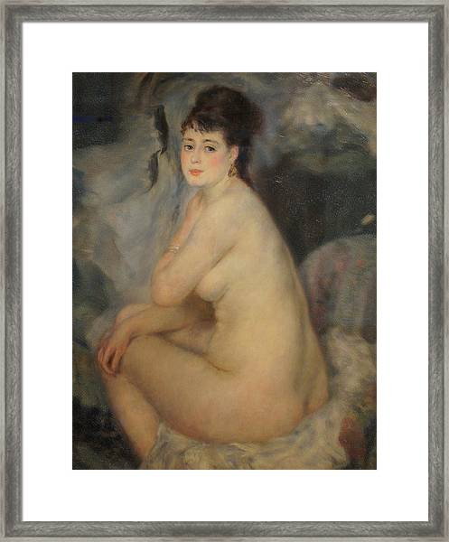 The Beautiful Anna Framed Print by Pierre Auguste Renoir