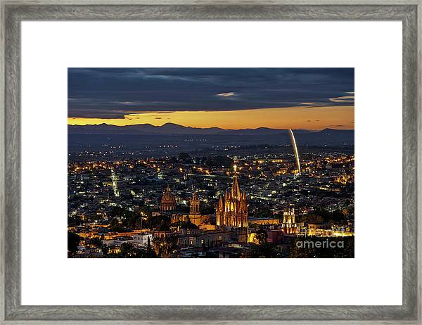 The Beautiful Spanish Colonial City Of San Miguel De Allende, Mexico Framed Print
