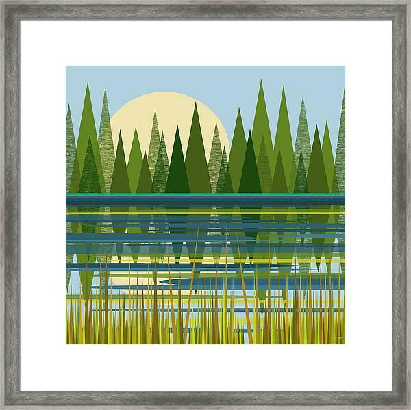 The Beaver Pond Framed Print