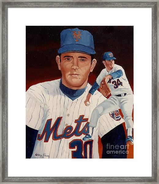 Framed Print featuring the painting From The Mets To The Rangers by Rosario Piazza