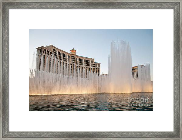 The Bellagio Hotel And Casino Framed Print by Andy Smy