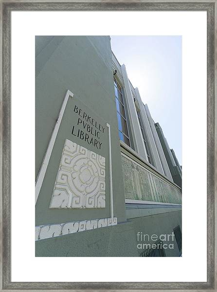 The Berkeley Public Library Central Branch At University Of California Berkeley Dsc6320 Framed Print