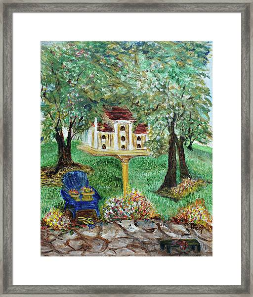The Best Seat In The House Framed Print