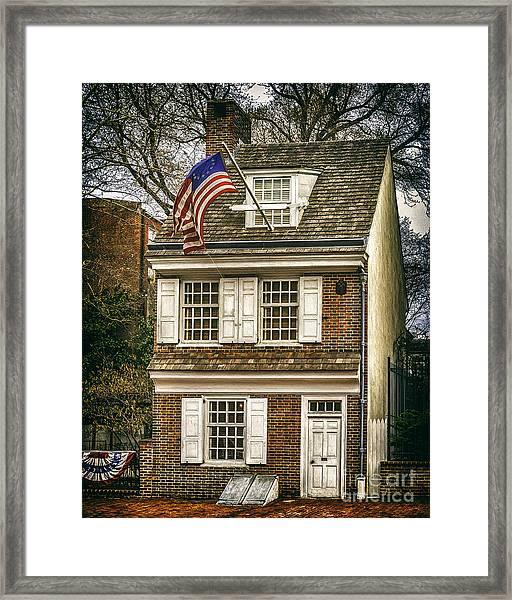 The Betsy Ross House Framed Print