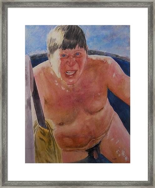 The Big Finn Framed Print by Jan Rapp