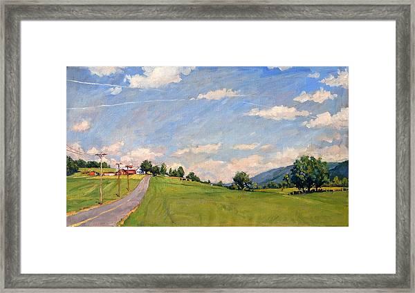 The Big View Berkshires Framed Print