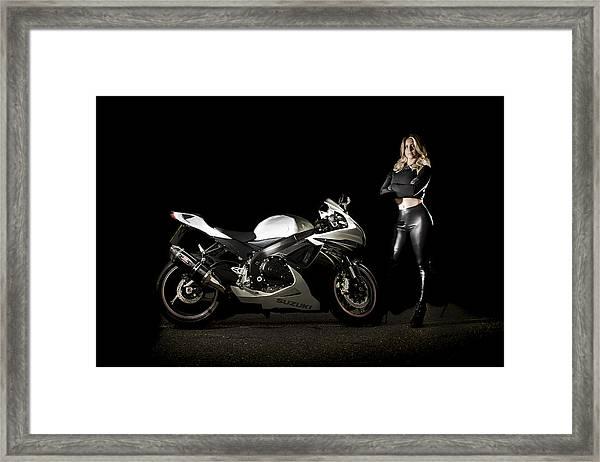 The Biker Framed Print