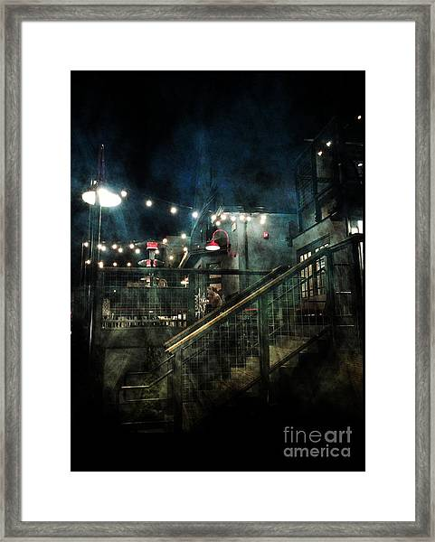 The Bird And The Bottle Framed Print