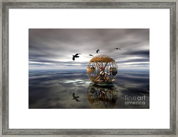 The Birdcage Framed Print by Sandra Bauser Digital Art