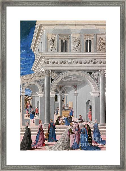 The Birth Of The Virgin, 1467 Framed Print