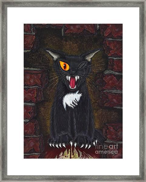 The Black Cat Edgar Allan Poe Framed Print