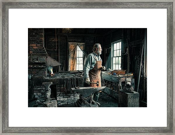 The Blacksmith - Smith Framed Print