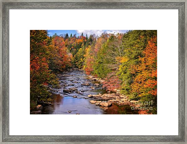 The Blackwater River In Autumn Color Framed Print