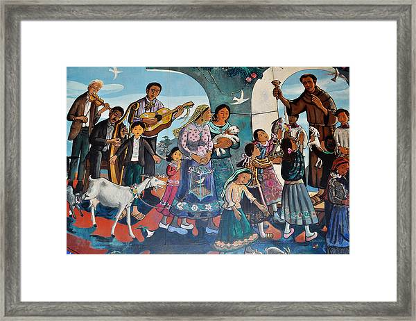 The Blessing Of Animals Olvera Street Framed Print