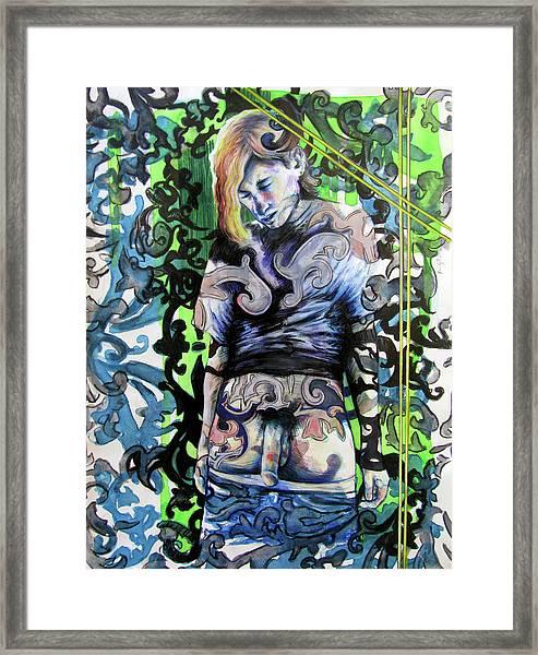 The Blond Bomber  Framed Print