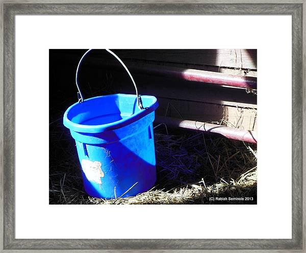 The Blue Bucket Framed Print