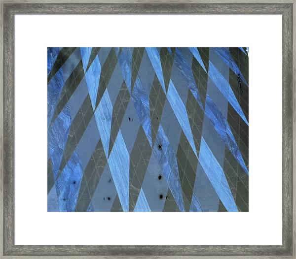 The Blue Dimension Framed Print