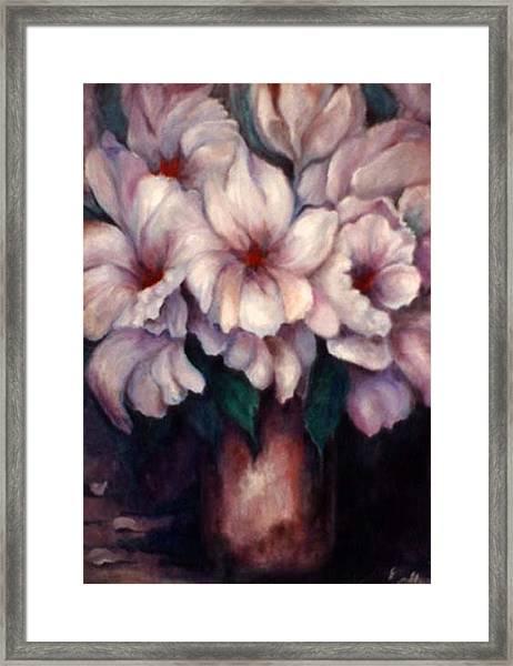 The Blue Flowers Framed Print