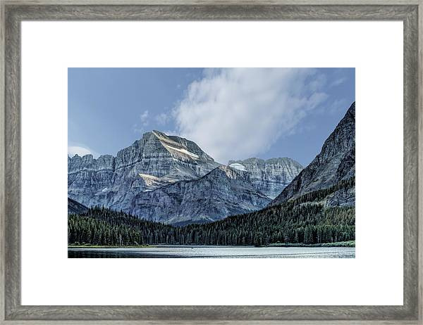 The Blue Mountains Of Glacier National Park Framed Print