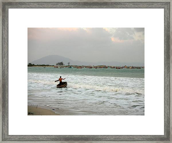 The Boat Driver Framed Print
