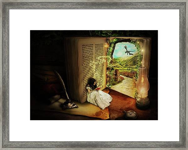 The Book Of Secrets Framed Print
