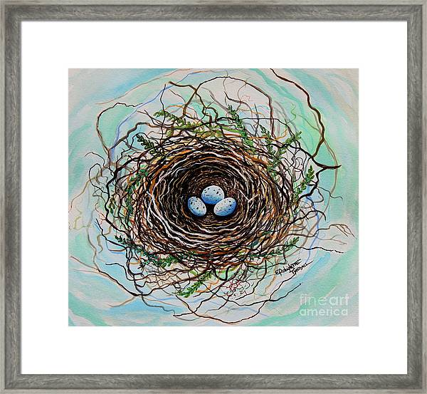 The Botanical Bird Nest Framed Print